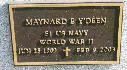 Y'DEEN, MAYNARD E. (WW II) - Burt County, Nebraska | MAYNARD E. (WW II) Y'DEEN - Nebraska Gravestone Photos