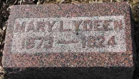 Y'DEEN, MARY L. - Burt County, Nebraska | MARY L. Y'DEEN - Nebraska Gravestone Photos
