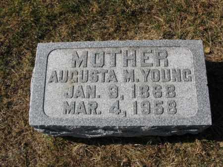 YOUNG, AUGUSTA M. - Burt County, Nebraska | AUGUSTA M. YOUNG - Nebraska Gravestone Photos