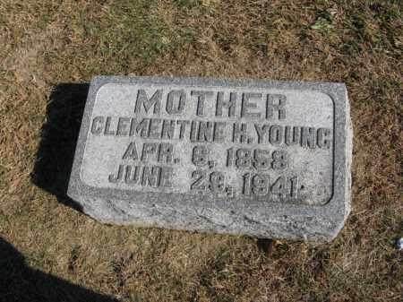 YOUNG, CLEMENTINE H. - Burt County, Nebraska | CLEMENTINE H. YOUNG - Nebraska Gravestone Photos