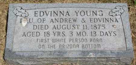 YOUNG, EDVINNA - Burt County, Nebraska | EDVINNA YOUNG - Nebraska Gravestone Photos