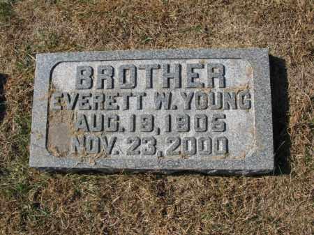 YOUNG, EVERETT W. - Burt County, Nebraska | EVERETT W. YOUNG - Nebraska Gravestone Photos