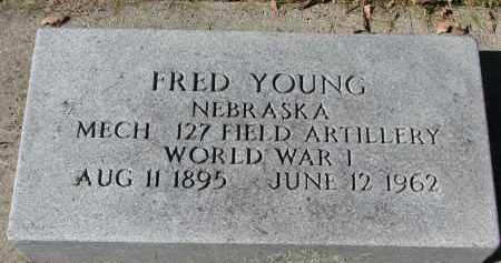 YOUNG, FRED (WW I) - Burt County, Nebraska | FRED (WW I) YOUNG - Nebraska Gravestone Photos