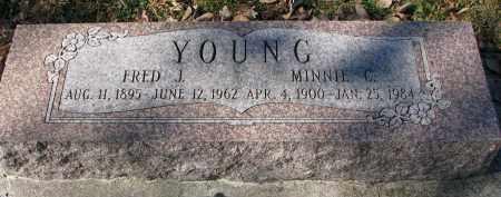 YOUNG, MINNIE C. - Burt County, Nebraska | MINNIE C. YOUNG - Nebraska Gravestone Photos