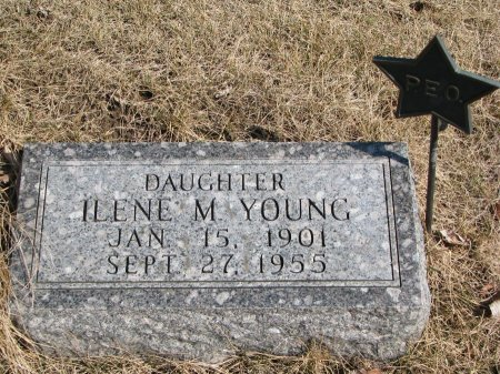 YOUNG, ILENE M. - Burt County, Nebraska   ILENE M. YOUNG - Nebraska Gravestone Photos
