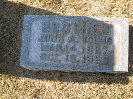 YOUNG, JOHN A. - Burt County, Nebraska | JOHN A. YOUNG - Nebraska Gravestone Photos