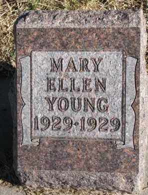 YOUNG, MARY ELLEN - Burt County, Nebraska   MARY ELLEN YOUNG - Nebraska Gravestone Photos
