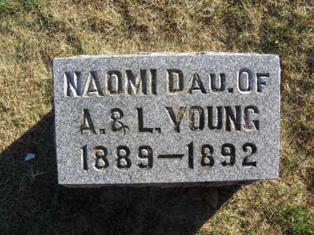 YOUNG, NAOMI - Burt County, Nebraska | NAOMI YOUNG - Nebraska Gravestone Photos