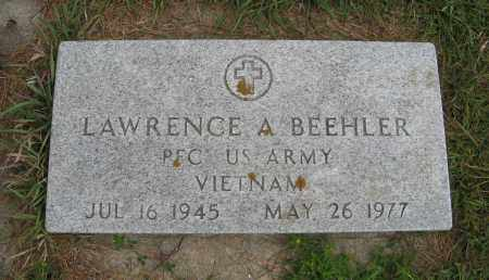 BEEHLER, LAWRENCE A. (MILITARY MARKER) - Butler County, Nebraska | LAWRENCE A. (MILITARY MARKER) BEEHLER - Nebraska Gravestone Photos