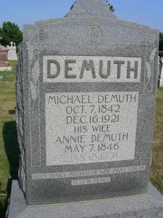 DEMUTH, ANNIE - Butler County, Nebraska   ANNIE DEMUTH - Nebraska Gravestone Photos