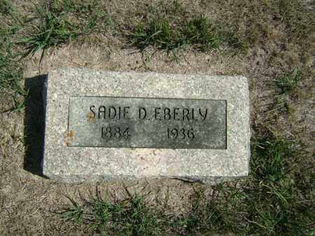 EBERLY, SADIE D - Butler County, Nebraska | SADIE D EBERLY - Nebraska Gravestone Photos