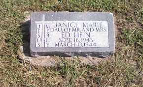 HEIN, JANICE MARIE - Butler County, Nebraska | JANICE MARIE HEIN - Nebraska Gravestone Photos