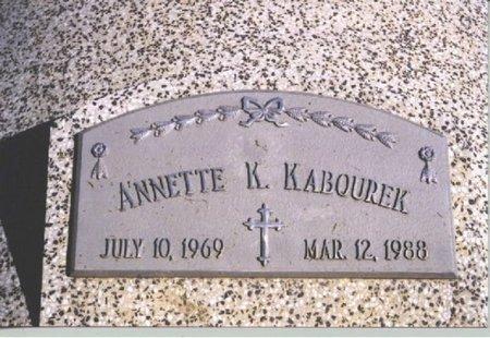 KABOUREK, ANNETTE K. - Butler County, Nebraska | ANNETTE K. KABOUREK - Nebraska Gravestone Photos