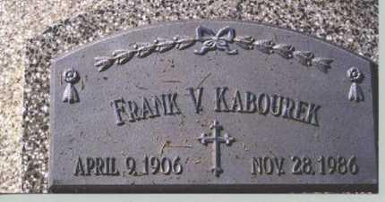 KABOUREK, FRANK V. - Butler County, Nebraska | FRANK V. KABOUREK - Nebraska Gravestone Photos
