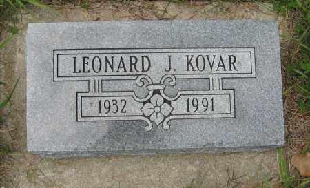 KOVAR, LEONARD J. - Butler County, Nebraska | LEONARD J. KOVAR - Nebraska Gravestone Photos