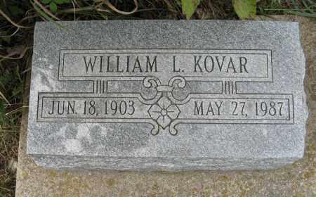 KOVAR, WILLIAM L. - Butler County, Nebraska | WILLIAM L. KOVAR - Nebraska Gravestone Photos