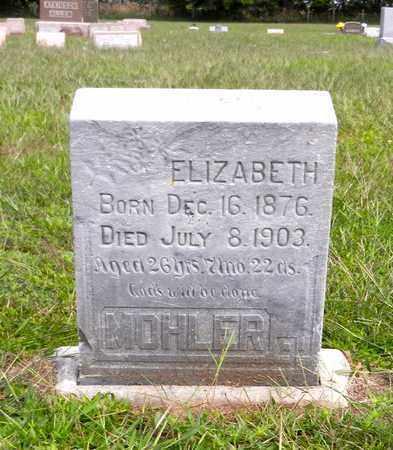 MOHLER, ELIZABETH - Butler County, Nebraska | ELIZABETH MOHLER - Nebraska Gravestone Photos
