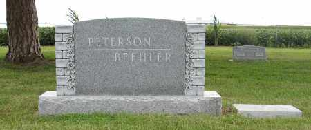 PETERSON & BEEHLER, (FAMILY MARKER) - Butler County, Nebraska | (FAMILY MARKER) PETERSON & BEEHLER - Nebraska Gravestone Photos