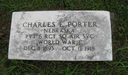 PORTER, CHARLES E. (MILITARY MARKER) - Butler County, Nebraska   CHARLES E. (MILITARY MARKER) PORTER - Nebraska Gravestone Photos