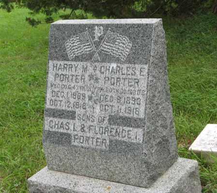 PORTER, CHARLES E. - Butler County, Nebraska | CHARLES E. PORTER - Nebraska Gravestone Photos