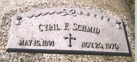 SCHMID, CYRIL F. - Butler County, Nebraska | CYRIL F. SCHMID - Nebraska Gravestone Photos