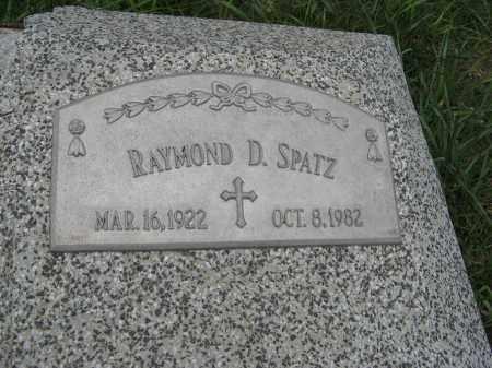 SPATZ, RAYMOND D. (CLOSE UP) - Butler County, Nebraska   RAYMOND D. (CLOSE UP) SPATZ - Nebraska Gravestone Photos