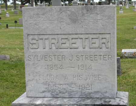 STREETER, SYLVESTER & FLORA (CLOSEUP) - Butler County, Nebraska | SYLVESTER & FLORA (CLOSEUP) STREETER - Nebraska Gravestone Photos