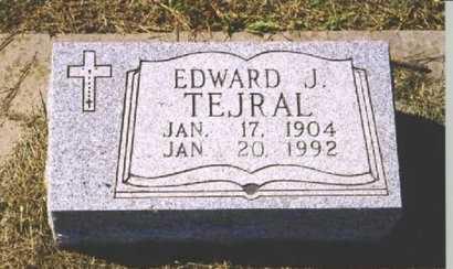 TEJRAL, EDWARD J. - Butler County, Nebraska | EDWARD J. TEJRAL - Nebraska Gravestone Photos