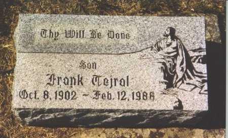 TEJRAL, FRANK - Butler County, Nebraska   FRANK TEJRAL - Nebraska Gravestone Photos