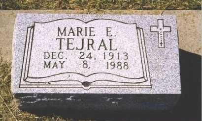 HRABON TEJRAL, MARIE E. - Butler County, Nebraska | MARIE E. HRABON TEJRAL - Nebraska Gravestone Photos