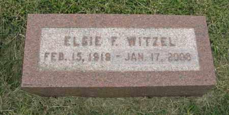 WITZEL, ELSIE F. - Butler County, Nebraska | ELSIE F. WITZEL - Nebraska Gravestone Photos