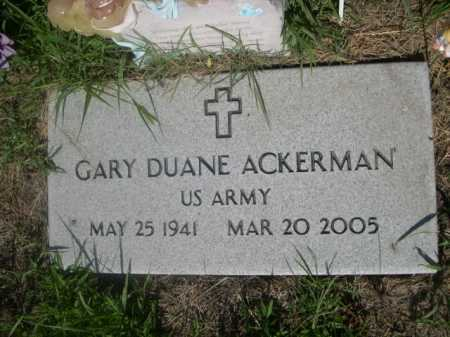 ACKERMAN, GARY DUANE - Cass County, Nebraska | GARY DUANE ACKERMAN - Nebraska Gravestone Photos