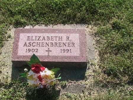 SABATKA ASCHENBRENER, ELIZABETH R. - Cass County, Nebraska | ELIZABETH R. SABATKA ASCHENBRENER - Nebraska Gravestone Photos
