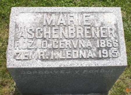 VACHOVEC ASCHENBRENER, MARIA MARIE - Cass County, Nebraska | MARIA MARIE VACHOVEC ASCHENBRENER - Nebraska Gravestone Photos