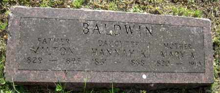 BALDWIN, MARY A - Cass County, Nebraska | MARY A BALDWIN - Nebraska Gravestone Photos