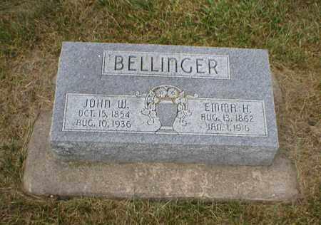 LANDON BELLINGER, EMMA HARRIET - Cass County, Nebraska | EMMA HARRIET LANDON BELLINGER - Nebraska Gravestone Photos