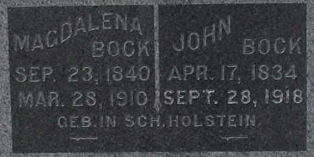 BOCK, JOHN - Cass County, Nebraska | JOHN BOCK - Nebraska Gravestone Photos