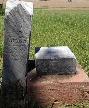 BREDER, HEINRICH WILHELM - Cass County, Nebraska | HEINRICH WILHELM BREDER - Nebraska Gravestone Photos