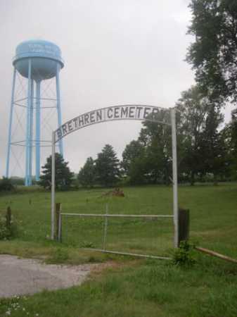 *BRETHREN CEMETERY, ENTRANCE TO - Cass County, Nebraska | ENTRANCE TO *BRETHREN CEMETERY - Nebraska Gravestone Photos