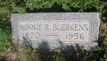BUERKENS, MINNIE R. - Cass County, Nebraska | MINNIE R. BUERKENS - Nebraska Gravestone Photos