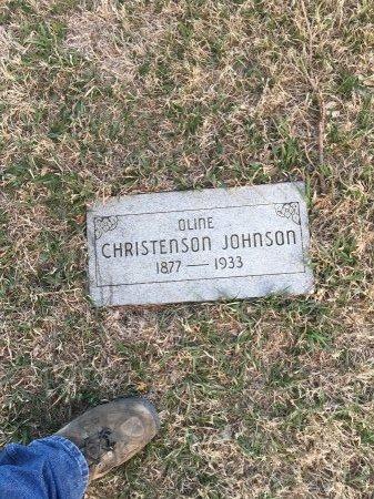 CHRISTENSON JOHNSON, OLINE - Cass County, Nebraska | OLINE CHRISTENSON JOHNSON - Nebraska Gravestone Photos