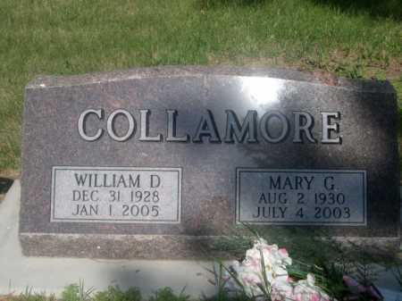 COLLAMORE, WILLIAM D. - Cass County, Nebraska | WILLIAM D. COLLAMORE - Nebraska Gravestone Photos