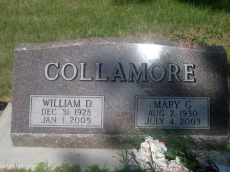 COLLAMORE, WILLIAM D. - Cass County, Nebraska | WILLIAM D. COLLAMORE - Nebraska Gravestone Photos