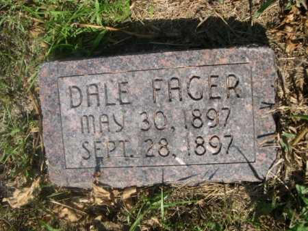 FAGER, DALE - Cass County, Nebraska | DALE FAGER - Nebraska Gravestone Photos