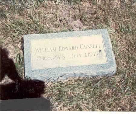 GUSSETT, WILLIAM EDWARD - Cass County, Nebraska | WILLIAM EDWARD GUSSETT - Nebraska Gravestone Photos