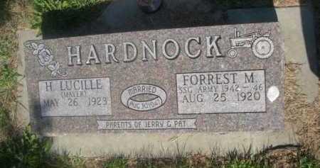 HARDNOCK, FOREST M. - Cass County, Nebraska | FOREST M. HARDNOCK - Nebraska Gravestone Photos