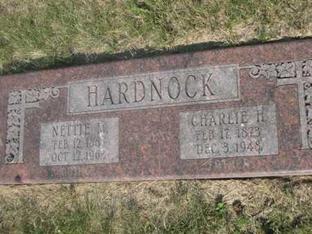 HARDNOCK, CHARLIE H. - Cass County, Nebraska | CHARLIE H. HARDNOCK - Nebraska Gravestone Photos