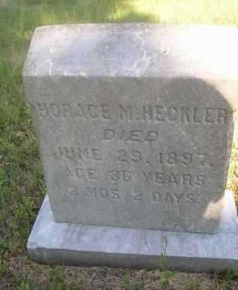 HECKLER, HORACE M. - Cass County, Nebraska | HORACE M. HECKLER - Nebraska Gravestone Photos