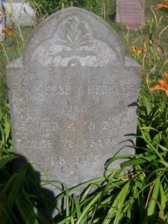HECKLER, REV. JESSE Y. - Cass County, Nebraska | REV. JESSE Y. HECKLER - Nebraska Gravestone Photos