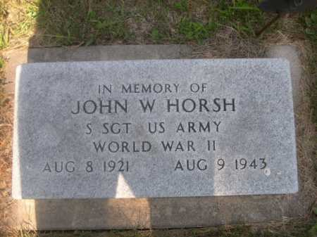 HORSH, JOHN W. - Cass County, Nebraska | JOHN W. HORSH - Nebraska Gravestone Photos